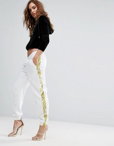 Джоггеры с отделкой Versace Jeans - Белый