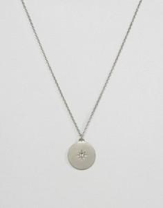 Ожерелье с диском и звездой Pieces - Золотой