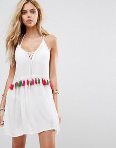 Пляжное платье с кисточками Boohoo - Белый