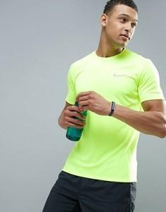 Футболка для бега из быстросохнущей ткани Dri-FIT от Nike Miler 833591-702 - Желтый