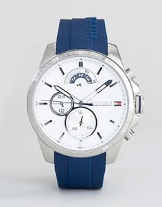 Часы с темно-синим силиконовым ремешком Tommy Hilfiger 1791349 - Темно-синий
