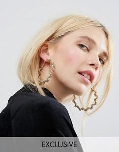 Перекрученные серьги-кольца Monki - Золотой