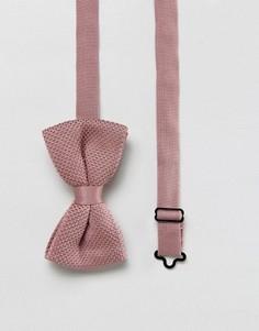 Розовый вязаный галстук-бабочка ASOS - Розовый