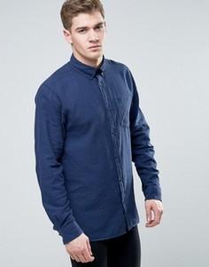 Узкая рубашка в клетку с длинными рукавами и карманом Jack & Jones Originals - Темно-синий