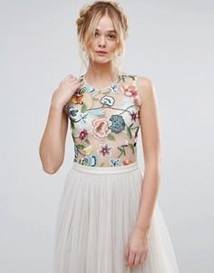 Боди с цветочной вышивкой Rd & Koko - Белый
