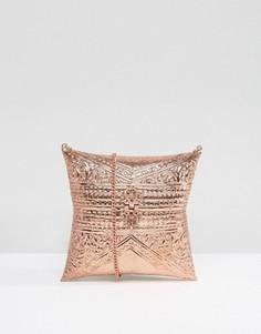 Металлическая сумка с гравировкой ручной работы Park Lane - Медный