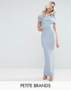 Платье макси с широким вырезом City Goddess Petite - Синий