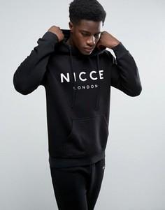 Худи черного цвета с большим логотипом Nicce London - Черный
