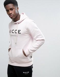 Худи розового цвета с большим логотипом Nicce London - Розовый