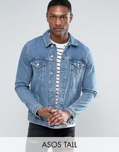 Голубая джинсовая куртка ASOS TALL - Синий