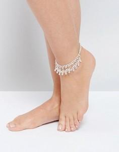 Броский браслет на ногу ASOS - Серебряный
