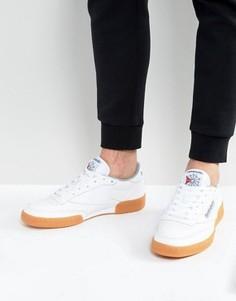 Белые кроссовки на каучуковой подошве Reebok Club C 85 BS7635 - Белый