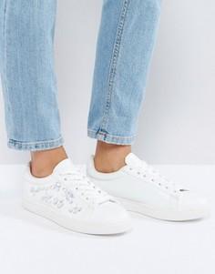 Кроссовки со шнуровкой и камнями New Look - Белый