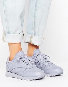 Стеганые кожаные кроссовки Reebok Classics - Фиолетовый
