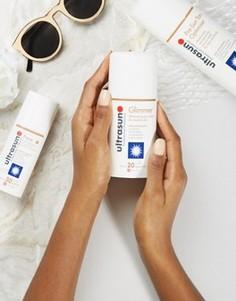 Солнцезащитный лосьон для чувствительной кожи с мерцающим эффектом SPF20 Ultrasun - 100 мл - Бесцветный