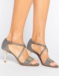 Босоножки на каблуке с камнями Dune Melanie - Золотой