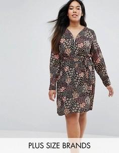 Платье с цветочным принтом Lovedrobe Plus - Мульти