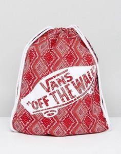 Красный рюкзак с затягивающимся шнурком Vans - Красный