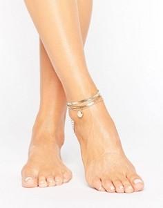 Золотистый браслет на ногу ALDO - Золотой