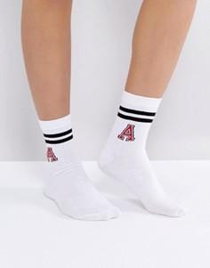 Носки в полоску ASOS - Белый