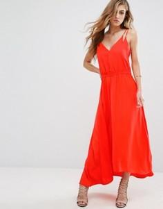 Платье макси Supertrash Dangari - Оранжевый