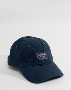 Бейсболка с логотипом Abercrombie & Fitch - Темно-синий