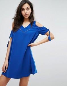 Платье с открытыми плечами Supertrash Dado - Синий
