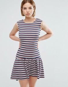 Асимметричное платье в полоску Closet London - Мульти