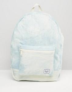 Хлопковый рюкзак из выбеленного денима Herschel Supply Co - Синий