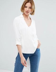 Рубашка с запахом и рукавами 3/4 Closet London - Белый