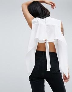 Рубашка без рукавов с открытой спиной и вставкой ASOS WHITE - Белый