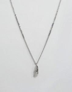 Серебряное ожерелье с подвеской-камнем Seven London - Серебряный