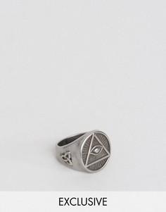 Серебристое кольцо с печаткой Seven London - Серебряный