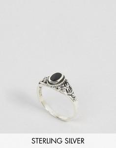 Серебряное кольцо с ониксом Regal Rose Dark Soul - Серебряный