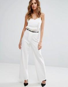 Строгие брюки с широкими штанинами Lipsy - Белый