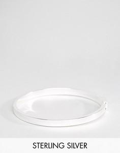 Посеребренный браслет-манжет в минималистском стиле Pilgrim - Серебряный