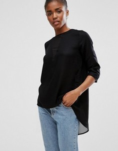 Блузка с запахом b.Young - Черный