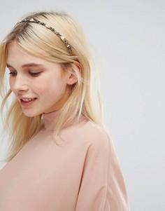 Ободок для волос с отделкой камнями Orelia - Серебряный