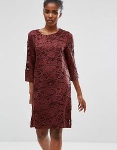 Кружевное платье b.Young - Фиолетовый