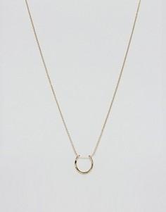 Позолоченное ожерелье с подвеской в виде подковы Orelia - Золотой