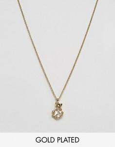 Ожерелье с подвеской в виде кота Ted Baker - Золотой