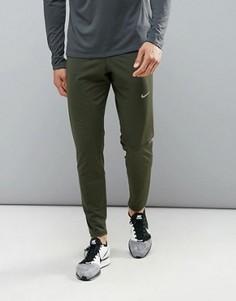 Зеленые брюки для бега из дышащей ткани Dri-Fit Nike OCT65 620067-331 - Зеленый