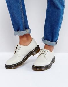 Кожаные туфли на плоской подошве со шнуровкой Dr Martens 1461 - Белый