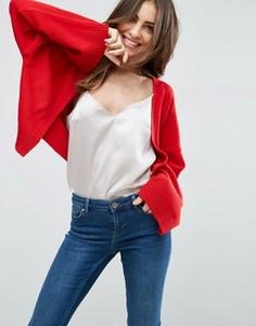 Укороченный кардиган с широкими рукавами ASOS - Красный