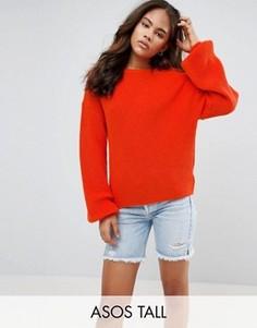 Джемпер с объемными рукавами ASOS TALL - Оранжевый