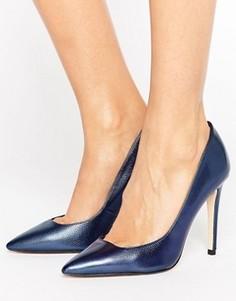 Туфли-лодочки с заостренным носом на высоком каблуке Dune - Темно-синий