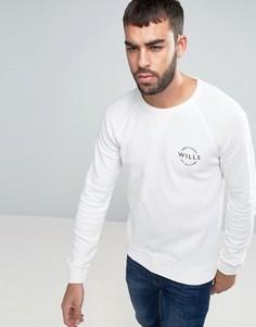 Белый свитшот бойфренда с маленьким логотипом Jack Wills Bridgend - Белый