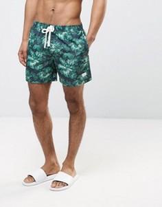Зеленые боксеры-брифы с цветочным принтом Jack Wills Branwell - Зеленый