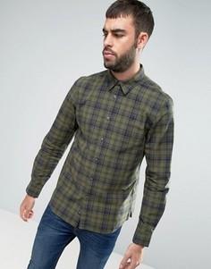 Рубашка классического кроя цвета хаки в клетку Jack Wills Salcombe - Зеленый