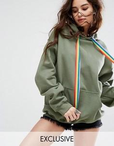 Oversize-худи с завязками Reclaimed Vintage Inspired - Зеленый